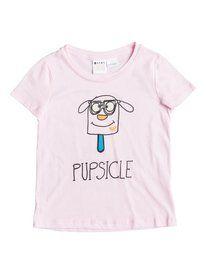roxy, Girl's 2-6 Pupsicle Tee, Pink Mist - Solid (mdz0)