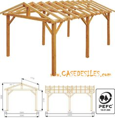 Backyard Pavilion, Outdoor Pavilion, Backyard Gazebo, Backyard Patio Designs, Outdoor Pergola, Diy Carport, Carport Plans, Gazebo Plans, Pavillion