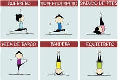 yoga-en-el-cole-5 Chico Yoga, Yoga For Kids, Asana, Yoga Poses, Pilates, Comics, Ideas Para, Diy Art, Relax