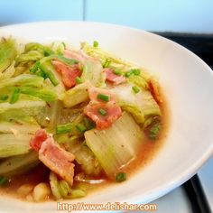 Bacon and Cabbage Stir-fry | Delishar - Singapore Cooking Blog