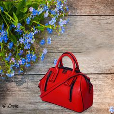 We have the Beautiful collection of #Ladies #Handbags. Just Grab Your Favorite Ones!  Product Name: Lavin Red Faux Leather Handbag