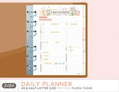 A5 DAILY PLANNER Printable Half-letter and A5 Planner by ListLab