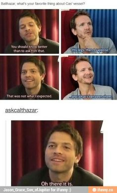 The one time Misha was the normal one