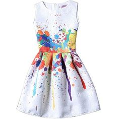 Yoins Sleevelss Tutu Mini Dress in Printing featuring polyvore women's fashion clothing dresses vestidos black crew neck dress zip dress no sleeve dress short dresses zipper mini dress