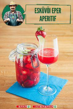 Huncut epercsoda   Hozzávalók: 1db befőttes üveg 20dkg eper 2 evőkanál méz 2 dl vodka 1db lime  Fogsz egy tiszta befőttesüveget, az epreknek levágod a zöld részét. A befőttesüveget telerakod, megrázogatod, hogy jól elhelyezkedjenek az eprek, de nem kell túltömni. Ha megvan, felöntöd vodkával a mézet pedig közben kicsit felmelegítesz hogy folyós legyen. Ebből is öntesz az eprekre ízlés szerint. Lezárod és hűvös sötét helyre teszed 3 hétre. Minion, Alcoholic Drinks, Wine, Glass, Food, Drinkware, Corning Glass, Essen, Minions