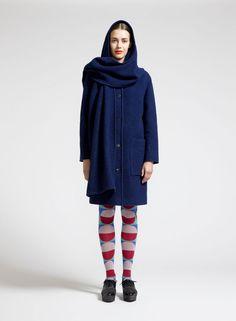 Huppelus 3 coat (dark blue) |Clothing, Women, Jackets & Coats | Marimekko