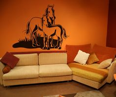 Vinyl Wall Decal Sticker Horse and Pony #OS_DC159 | Stickerbrand wall art decals, wall graphics and wall murals.