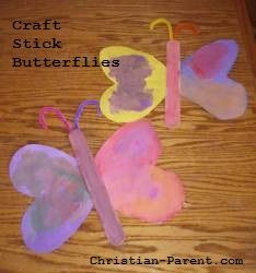 Fun butterflies you can make out of popsicle sticks with your preschooler.