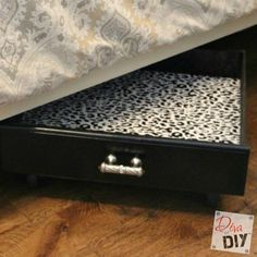 How to Use Old Drawers for Under Bed Storage Containers via Diva of DIY | Tutorials For Your Favorite DIY Projects