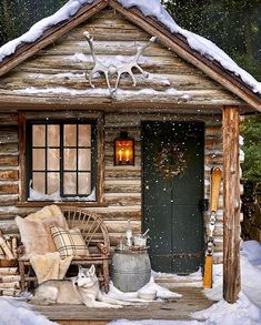 my little cottage in the woods snuggly little log cabin to spend a mid-winter's night in. Cabin In The Woods, Cottage In The Woods, Forest Cottage, Winter Cabin, Cozy Cabin, Cozy Winter, Winter Snow, Winter House, Cabin Homes