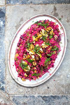 Couscous, Beet, Walnut and Za'atar Salad