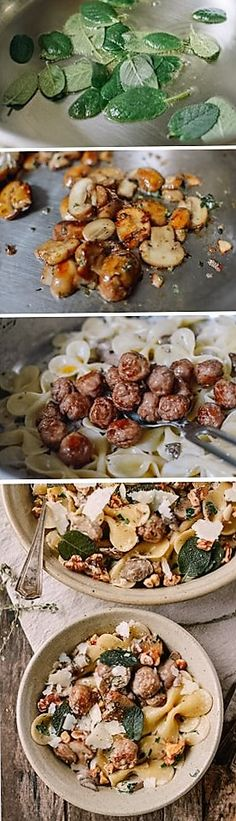 Winter Pasta with Mushrooms, Sausage Meatballs, Walnuts & Crispy Sage recipe by the Woks of Life
