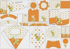 Easter in Orange: Free Party Printables.
