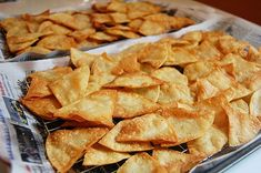 Homemade Tortilla Chips Recipe.