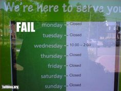 #fail -- better be great wages if a person works 4 hrs a week