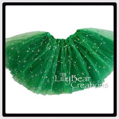 SALE Sparkly Green Tutu Glitter Tutu On Sale by LillyBearCreations, $11.78