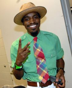 Andre 3000, also (and better) known as Andre Benjamin, is a joyful exception to the would-bond-wear-this rule.  Bond wouldn't go before a firing squad in anything Benjamin wears, yet Andre pulls it off effortlessly.  Don't try this at home.