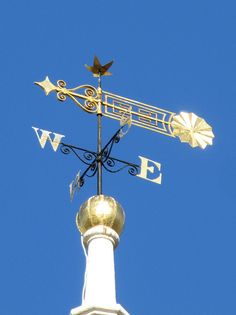 A weathervane in Boston - love the many moving parts