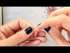 MRAW Zigged Band from Contemporary Geometric Beadwork, by Kate McKinnon: High Definition video - YouTube