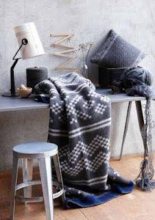 Røros wool blankets from Norway: Setesdal
