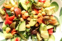Mediterranean salad - so delicious!