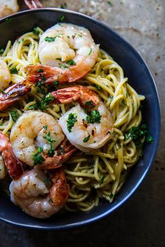 Shrimp Scampi (gluten and dairy free)