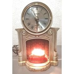 Vintage Mid Century MasterCrafters 272 Fireplace Clock With Illuminated Motion Fire. in the Electrical Clocks category was listed for on 5 Feb at by TomHarvey in Vereeniging Vintage Clocks, Mid Century, Fire, Watches, Metal, Glass, Wristwatches, Drinkware, Midcentury Clocks
