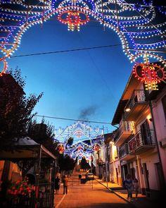 #notte di #festa #aielli #beautiful #sky #light #colors #street #luminarie #fireworks #photography #picoftheday #photooftheday #follow #followme #follow4follow #night #iphone7plus