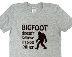 Bigfoot Mens T-Shirt - Yeti Cryptozoology Shirt - Sizes S, M, L, XL