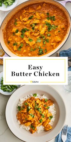 Here's how to make the easiest butter chicken at home in just 30 minutes. Butter Chicken - The Easiest Butter Chicken Cooking Basmati Rice, Cooking Recipes, Healthy Recipes, Curry Recipes, Rice Recipes, Main Dishes, Dinner Recipes, Favorite Recipes, Yummy Food