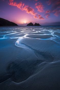 ~~Holywell Sunset | Cornwall, England | by Alister Benn~~