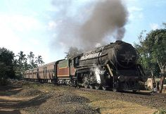 1978: The Ernakulam-Trivandrum Fast Passenger departs Kollam headed by a steam locomotive, the WP 7607