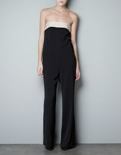 ZARA BLACK STRAPLESS JUMPSUIT PLAYSUIT GORGEOUS  NEW