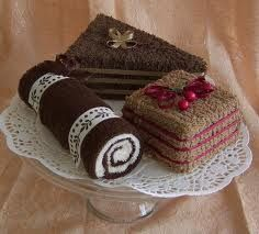 Towel Cakes, Chocolate Lovers Set of Three Mini Towel Dessserts