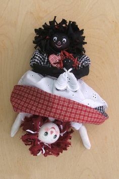 Ruby and Raggs, an upside down doll to make yourself.