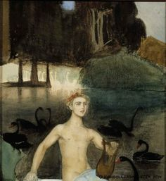 Artwork by Magnus Enckell, Faun, 1914 Made of Painting: oil on canvas Sphynx, Stockholm, Meaningful Paintings, Greek Pantheon, National Gallery, Nordic Art, Canadian Art, Classical Art, Male Figure