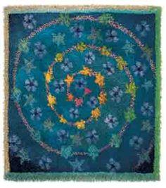"Sirkka Könönen and Kalevala Women woven rya textiles ""rug yesterday and today,"" 2008 Rya Rug, Inkle Weaving, Simple Line Drawings, Wool Applique, Tapestry Weaving, Textile Artists, Rug Hooking, Textile Design, Fiber Art"
