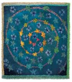 Rya rag Tähtipolku (The Path of Stars) by Finnish textile artist Sirkka Könönen.