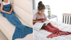 Mermaid Tail Blanket - so cute! The 'must have' accessory for Autumn!