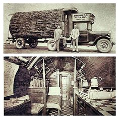 Holy amazing log camper home! Could this be the first DIY RV ever? Click to read the story on how they built it, it's crazy interesting!