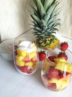Tropical Fruit with Vegan Coconut Dip #ontheblog #tworaspberries #vegan #healthy #coconut