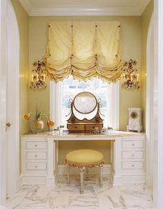 I like this balloon shade for a bathroom -