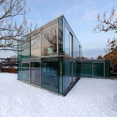 A house made of glass in Maastricht, Netherlands