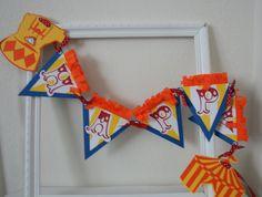 Circus Happy Birthday Banner