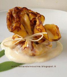 architettando in cucina: Fagottini di crêpes alla zucca con ripieno di ricotta e pistacchi