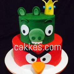 cakkes.com: Bolo Angry Birds Bolo Angry Birds, Festa Angry Birds, Cake Art, Cake Cookies, Cookie Decorating, Yoshi, Cool Kids, Cake Ideas, Fondant