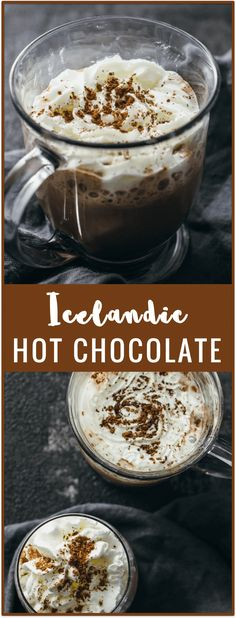 Icelandic hot chocolate - Skip the pre-made mixes and make your own homemade hot chocolate Icelandic-style! The trick is adding sea salt, which really elevates this popular drink into a whole new dimension. This is an easy recipe using ingredients you pro