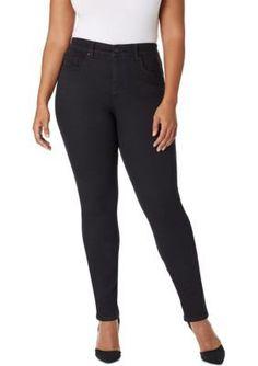 Vintage America Blues Black Plus Size Boho Skinny Jeans