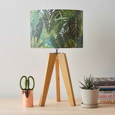 Botanical Plant Print Lampshade