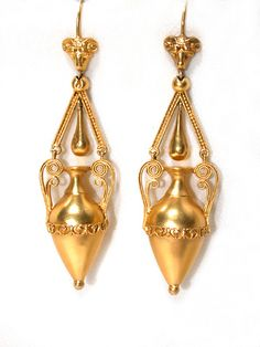 Victorian Archaeological Revival Earrings